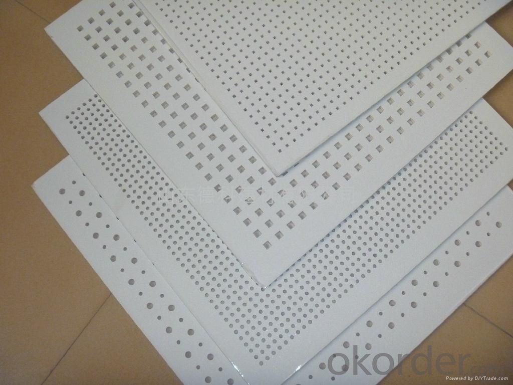 Drywall Sound Absorption Gypsum Ceiling Tiles600*600