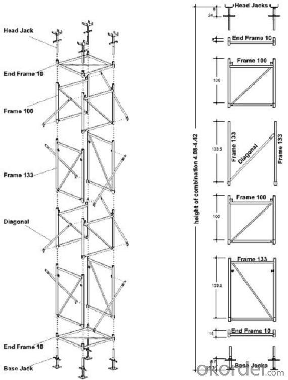 Slab Scaffold Formwork With Ring-Lock Scaffolding Table Formwork