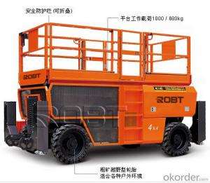 Off-road scissor platform