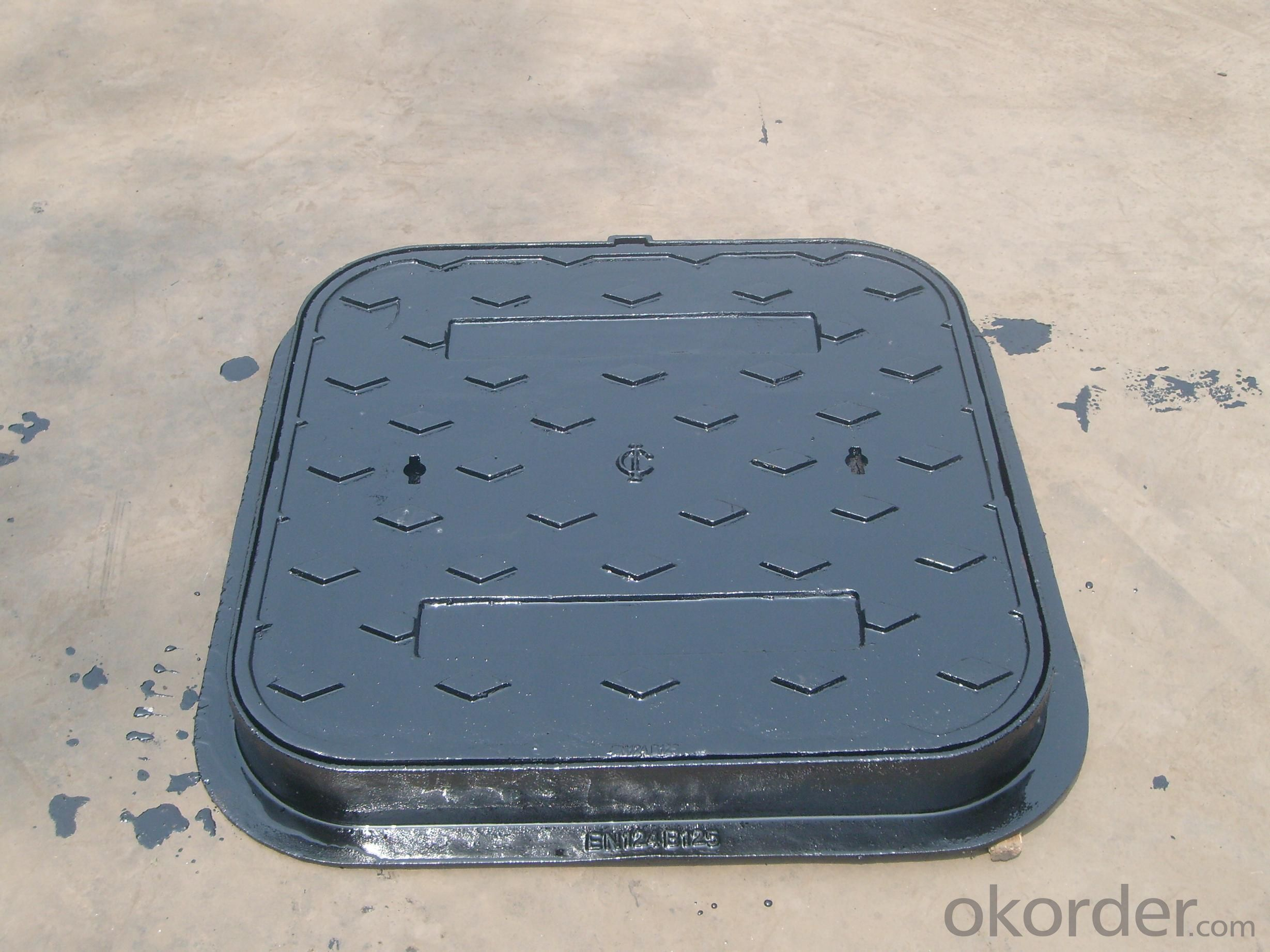 The heavy ductile manhole cover