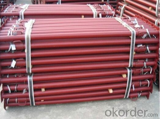 Scaffolding pipe support system steel props