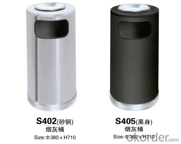 S402Indoor stainless steel ash barrels