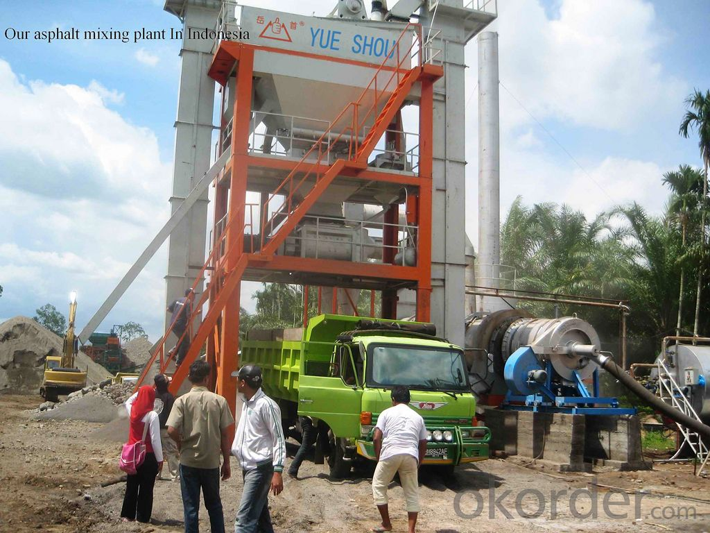 asphalt mixing plant LB800  capacity 64t/h,good reputation in russian,Top 10 in 2014,hot sale LB1500 in russian
