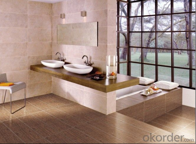 Polished Porcelain Tile Line Beige Color CMAX2602