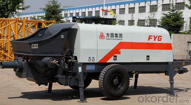 FANGYUAN Diesel Engine Concrete Trailer Pump HBTS80-16-181