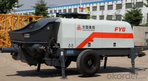 FANGYUAN Motor Driven Concrete Trailer Pump HBTS80-16-132