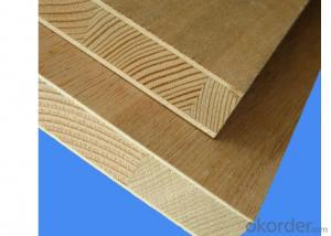 Melamine Paper Face block Board Falcata Core