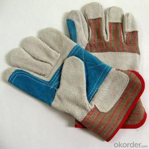 Supply working gloves leather safety gloves