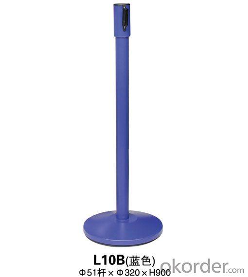 L10B Blue a noodle Stanchion Tubular Steel Railing