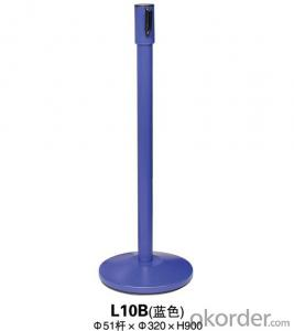 L10B Blue a noodle Stanchion Tubular Steel Railing
