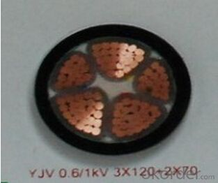 ZHONGMEI XLPE lnsulated Power Cable YJV 0.6/1KV 3X120+2X70