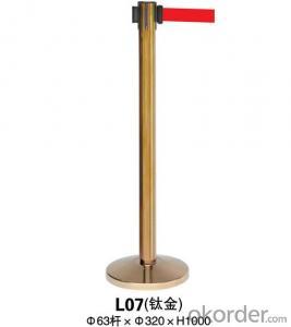 L07 Titanium a Noodle Stanchion Tubular Steel Railing