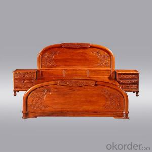 French prosperous bed Beijing annatto furniture factory wholesale new Chinese style furniture