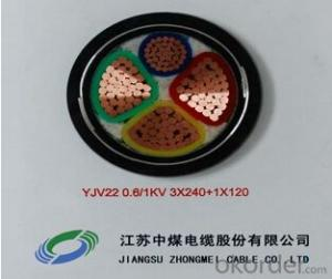 ZHONGMEI XLPE lnsulated Power Cable YJV22 0.6/1KV 3X240+1X120