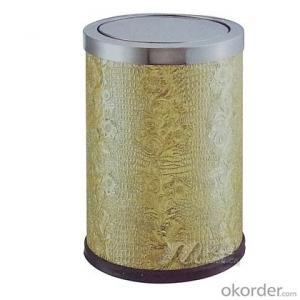 Round beveled room trash gold leaf curl sticks