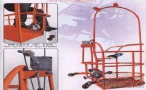pedal suspended platform