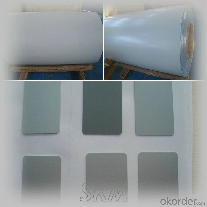 Grey color back coated aluminium sheet rolls