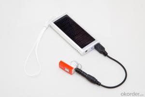 USB Solar Charger in Super Mini Size 1200mAh Portable for Travelling