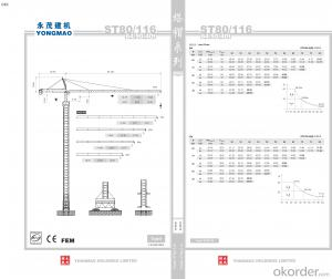 YONGMAO ST80/116 tower crane