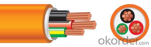 Circular Cables PVC 600/1000V 2C+E Copper /Orange cable as per  AS/NZS 5000.1