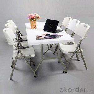HDPE plastic folding table outdoor round folding table