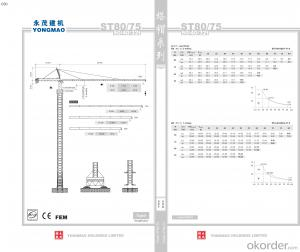 YONGMAO ST80/75 tower crane