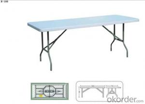 plastic folding table height adjustable table outdoor HDPE folding table