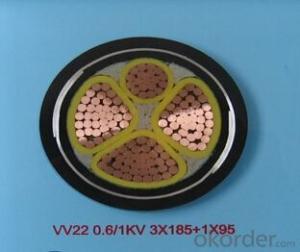 ZHONGMEI PVC insulated power cable VV22 0.6/1KV 3X185+1X95