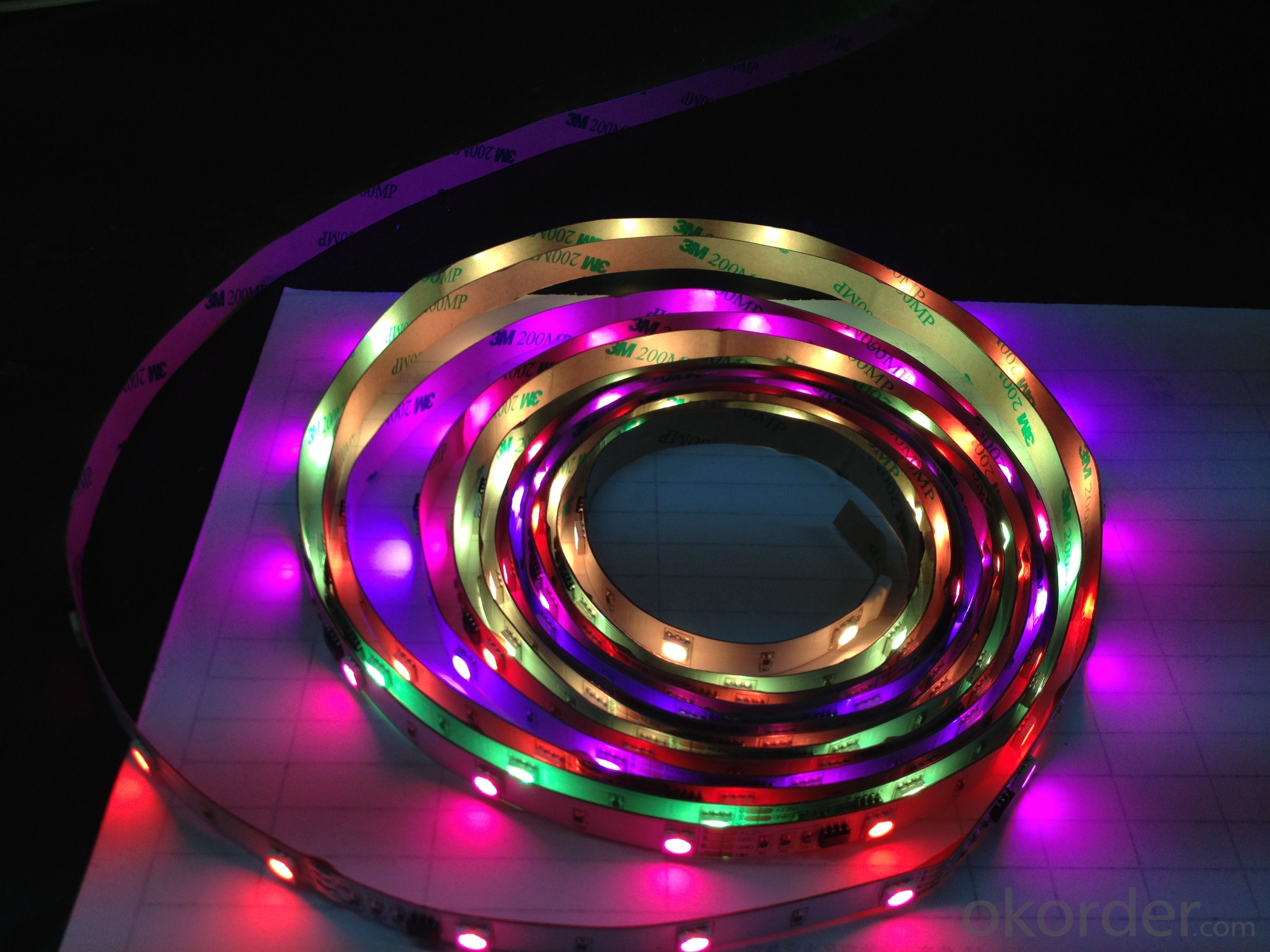 waterproof IP65 RGB Color Led strip