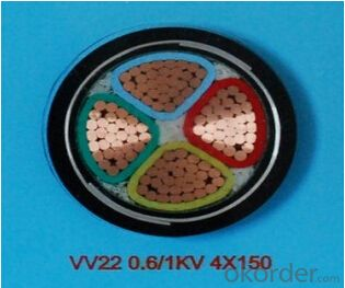 ZHONGMEI PVC insulated power cable VV22 0.6/1KV 4X150