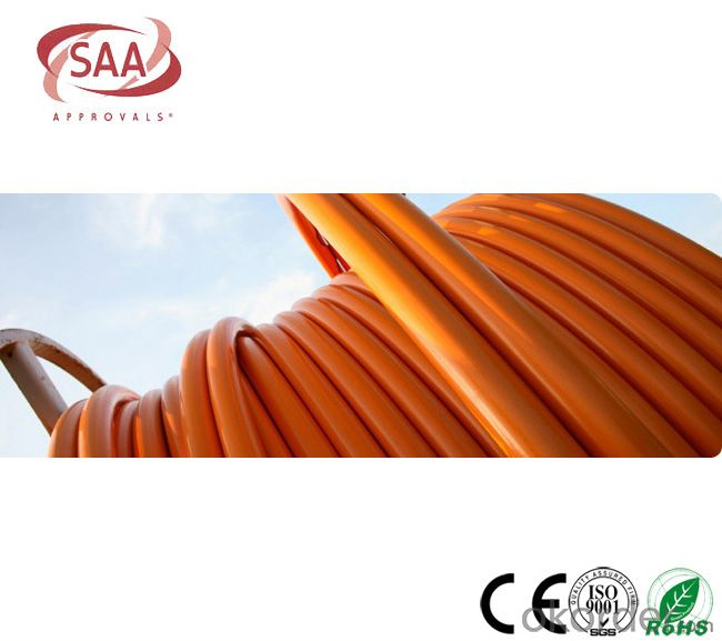 Circular Cables PVC 600/1000V 2C+E Copper /Orange cable as per  AS/NZS 5000.1