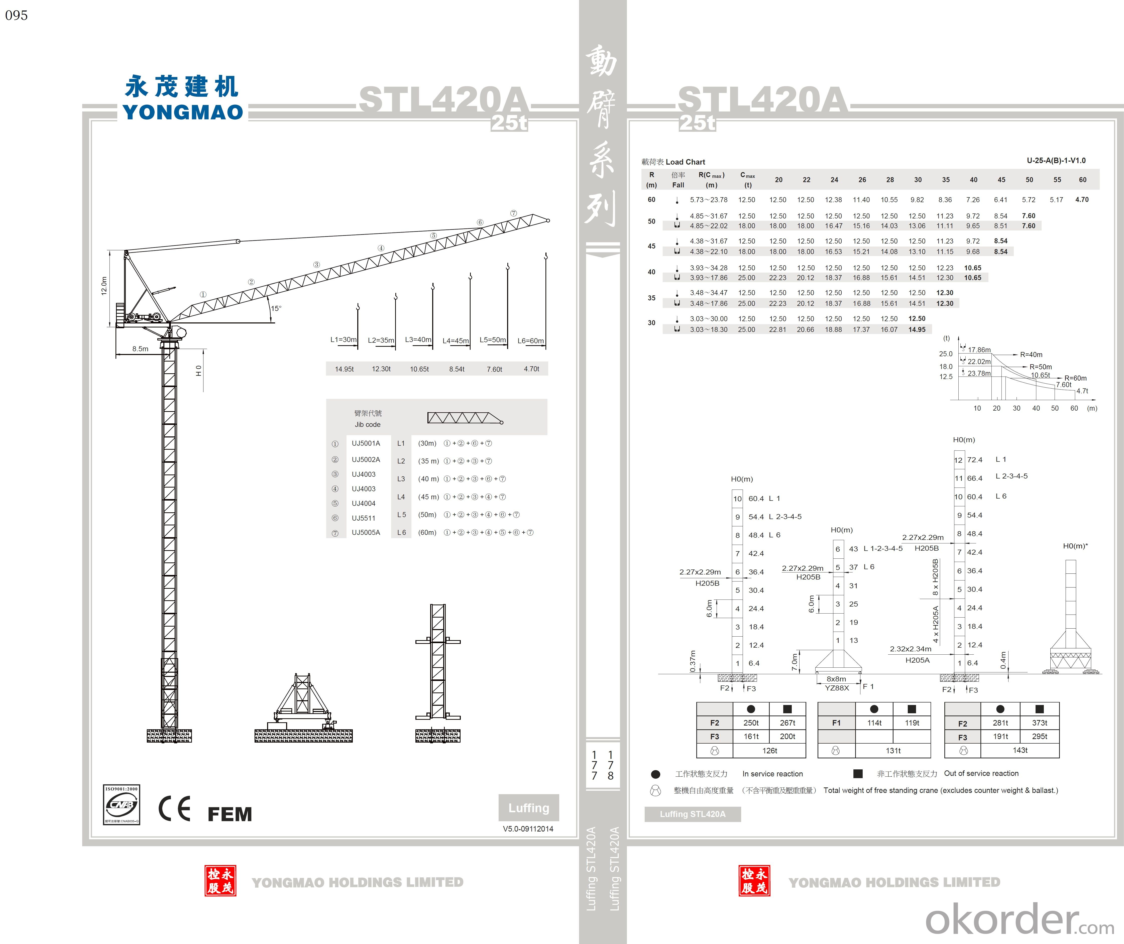 YONGMAO STL420A tower crane