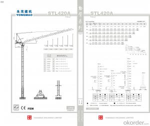 YONGMAO STL420A tower crane