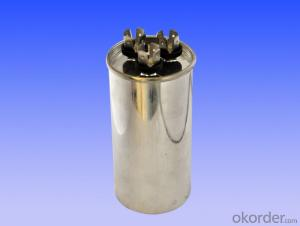 round double coils air conditional capacitor