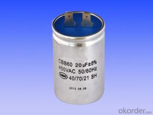 Round aluminum case motor running capacitors