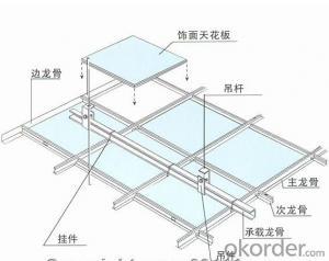 Metal Suspended Ceiling Main Tee And Cross Tee