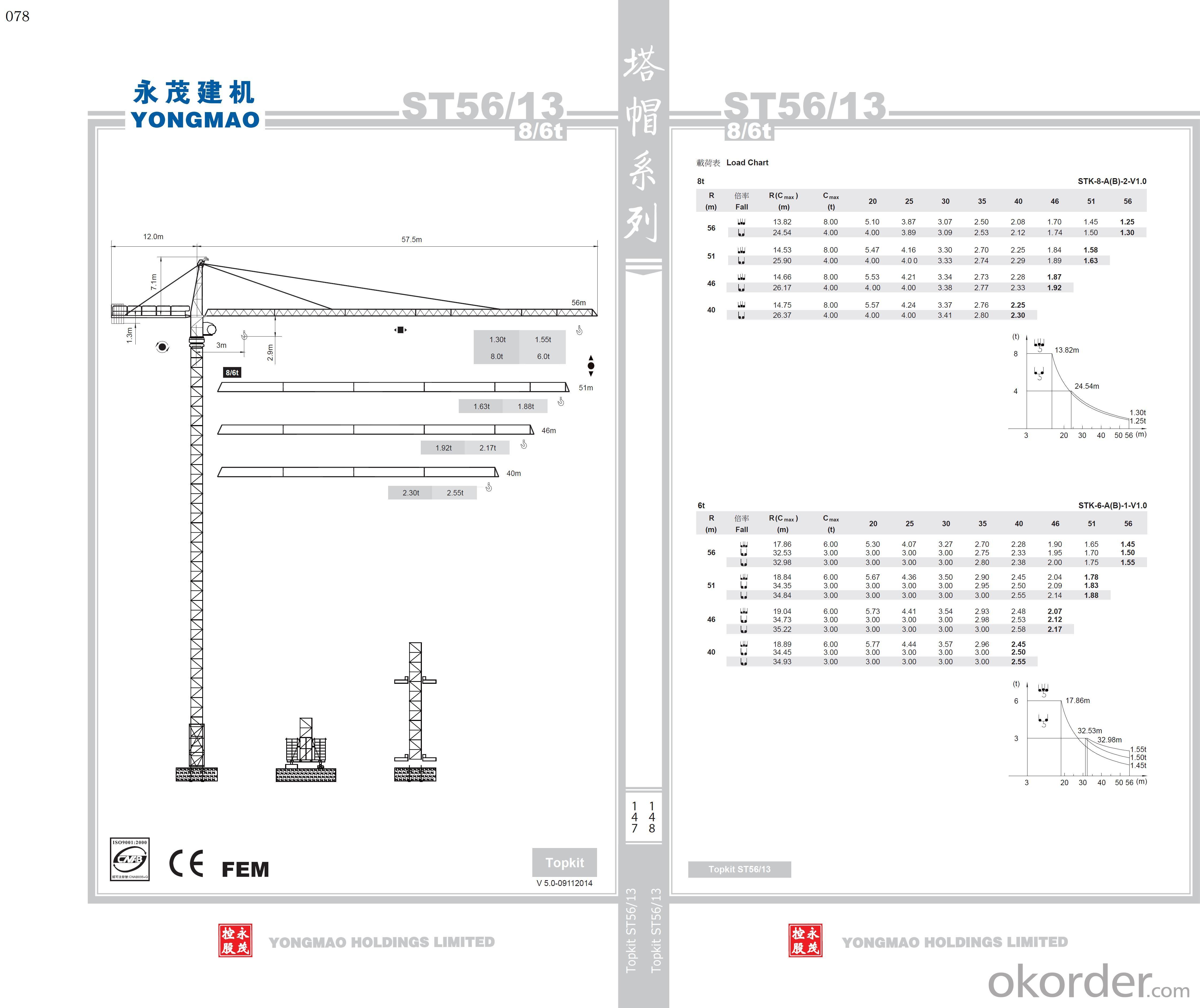 YONGMAO ST56/13 tower crane