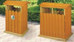 Red camphor wood outdoor classification trash