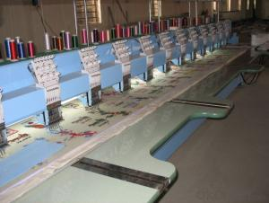 COMPUTERIZED FLAT EMBROIDERY MACHINE - 2-12 HEAD
