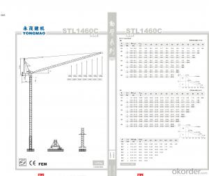 YONGMAO STL1460C tower crane