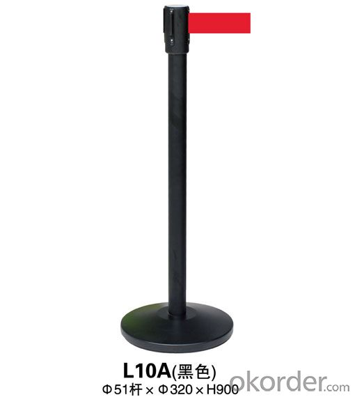 L10A Black a Noodle Stanchion Tubular Steel Railing