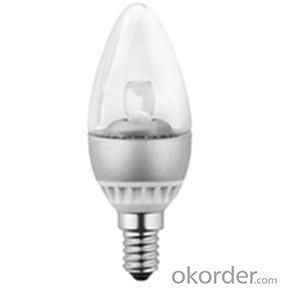 LED Bulb 4W Light Size Diameter 35x 95 mm, Similar As Traditional Incandescent Candle Bulb