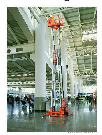 Electric Aluminium Work Platform(six masts)-JAMWP6000