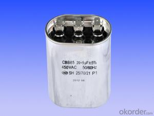 oval double coils air conditional capacitors