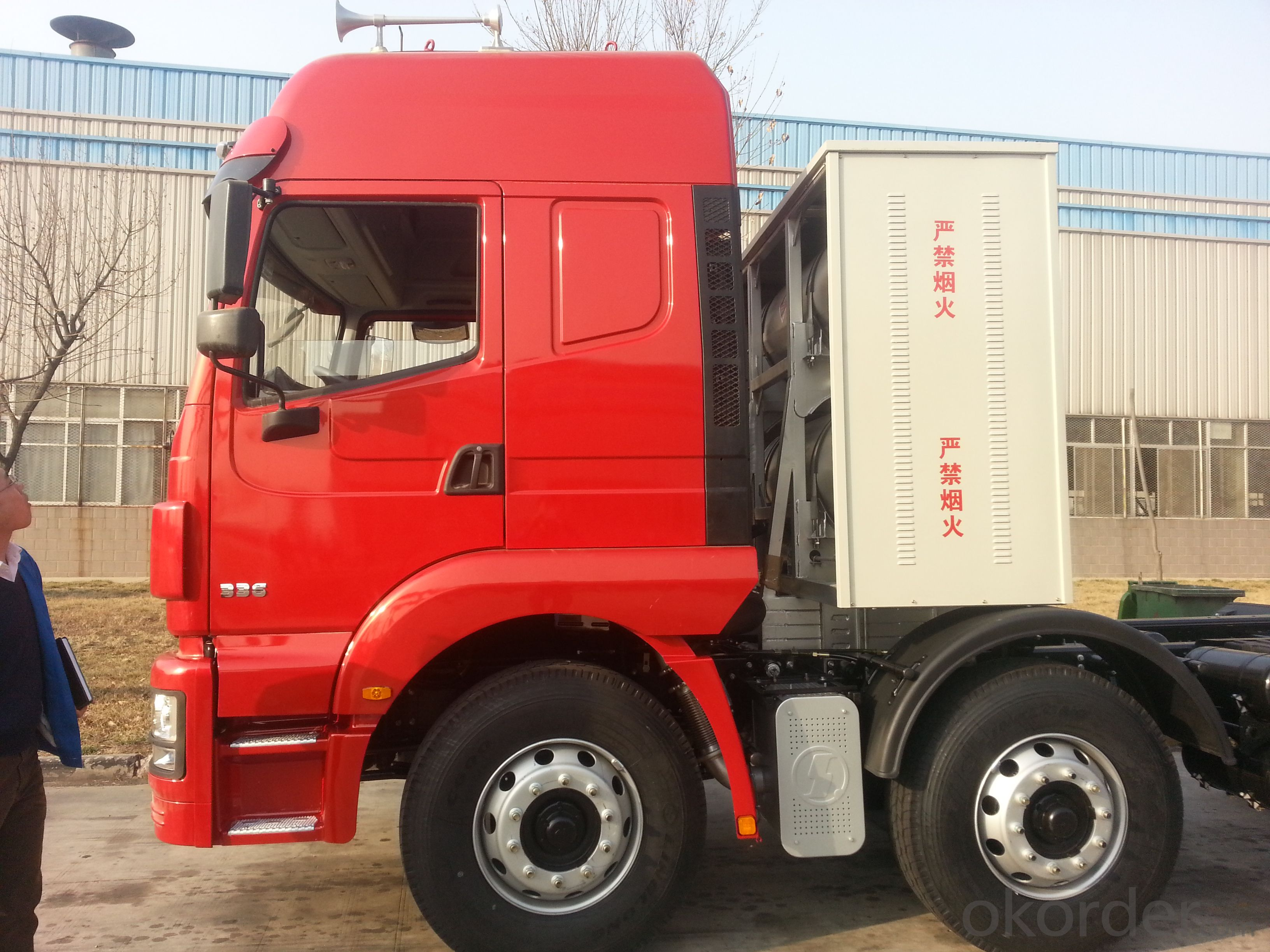 SHACMAN F3000 CNG natural gas 40 tons Tractor Truck