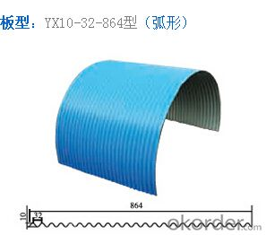 Colorful Galvanized Corrugated Pressed steel plate NO. 820