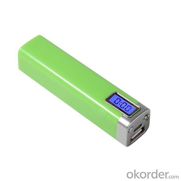 Portable power bank with screen and timer