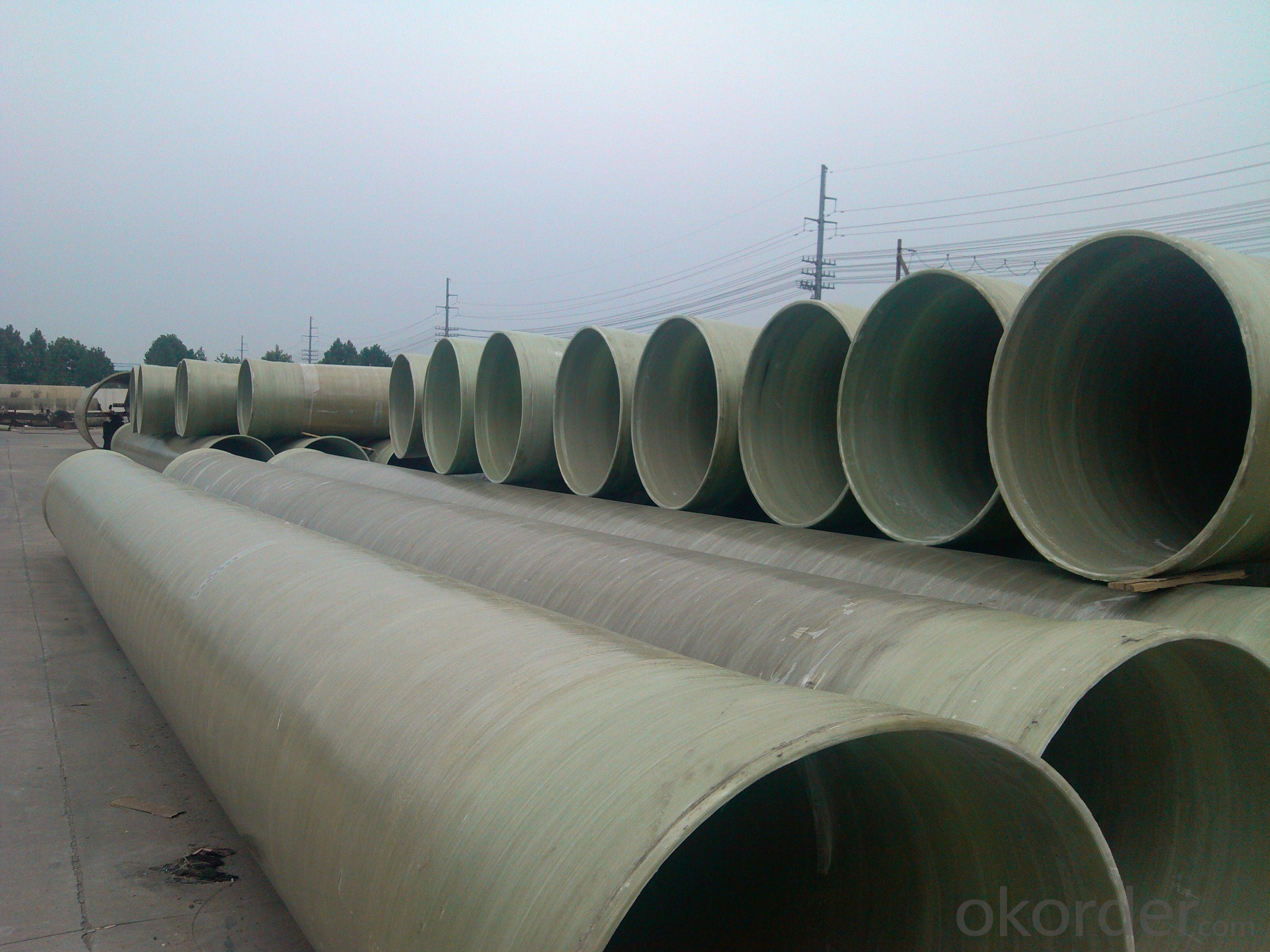 Underground GRP engineering pipe DN1400