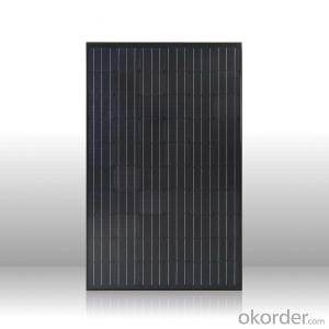 Top supplier high efficiency mono black solar panel 250w