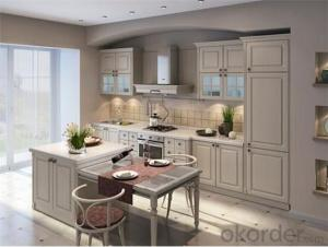 Ivory PVC Kitchen Cabinet